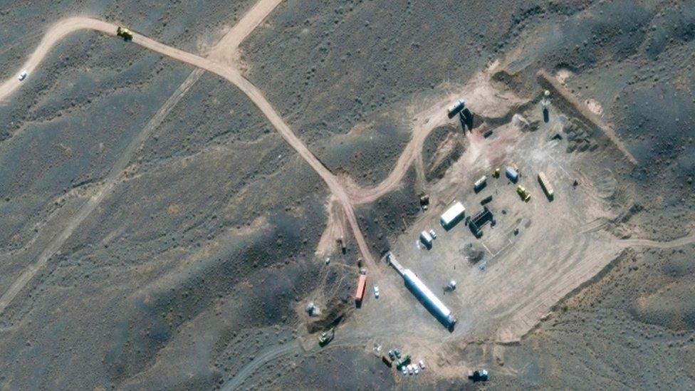 Vista aérea de la planta de Natanz.
