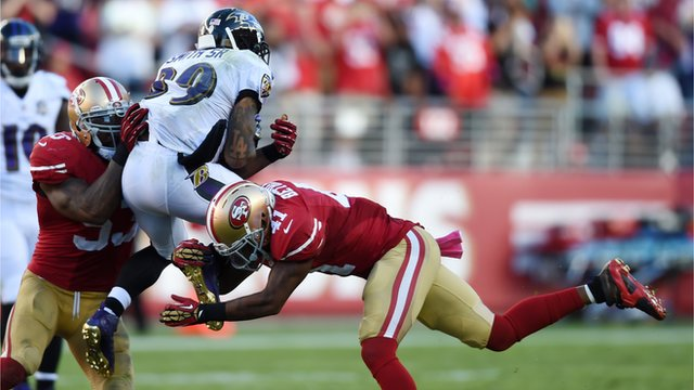 Baltimore Ravens wide receiver Steve Smith Snr in action against the San Francisco 49ers