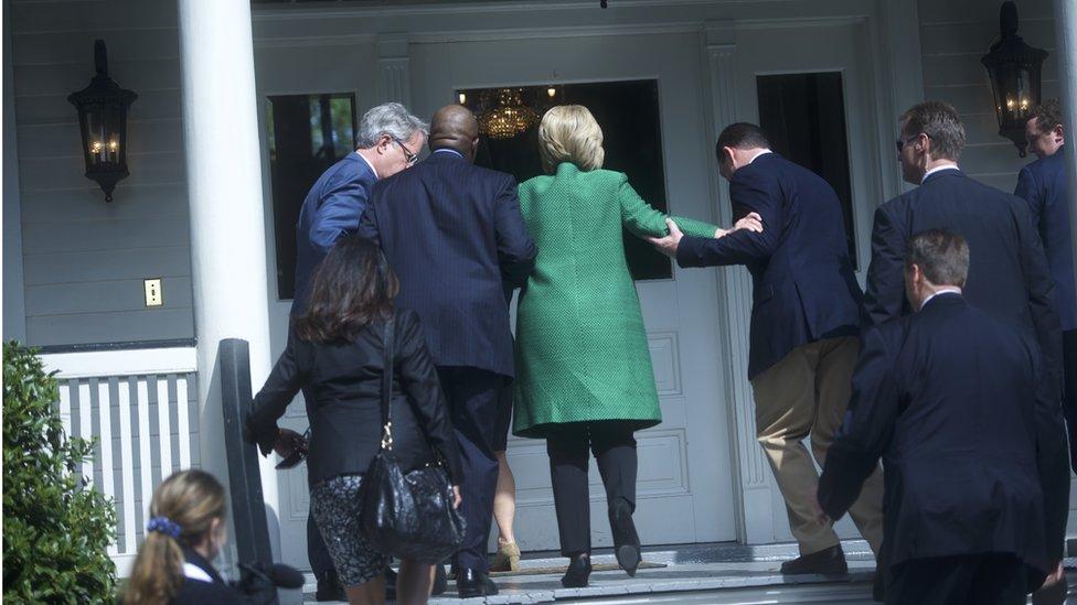Hillary Clinton in February in S Carolina