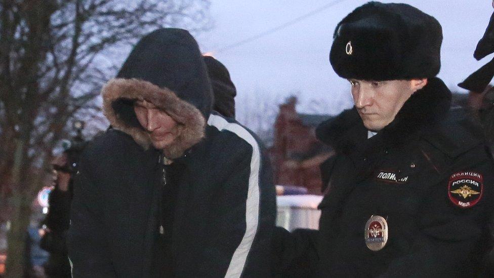 Arrest of bombing suspect Dmitry Lukyanenko, 30 Decevmber 17
