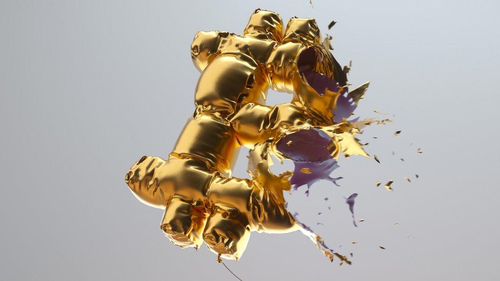 Bitcoin balloon bursts