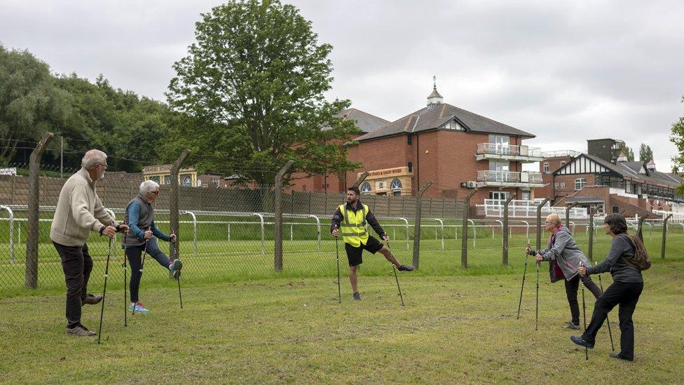 Nordic walking organised by Castleford Tigers rugby club