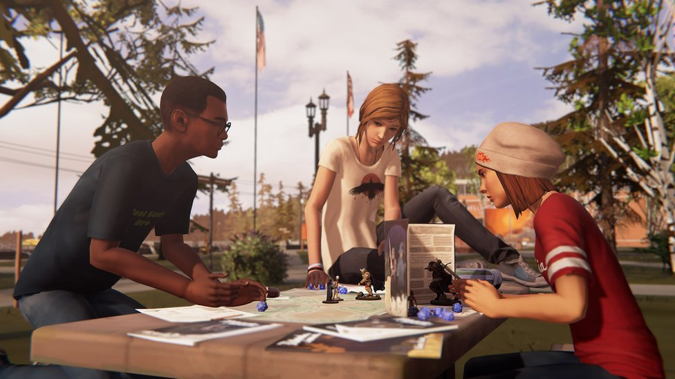 Chloe plays Dungeons and Dragons with classmates in Life is Strange: Before the Storm