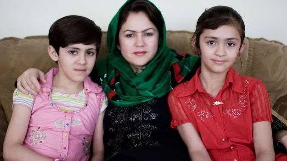 Fawzia Koofi with her daughters
