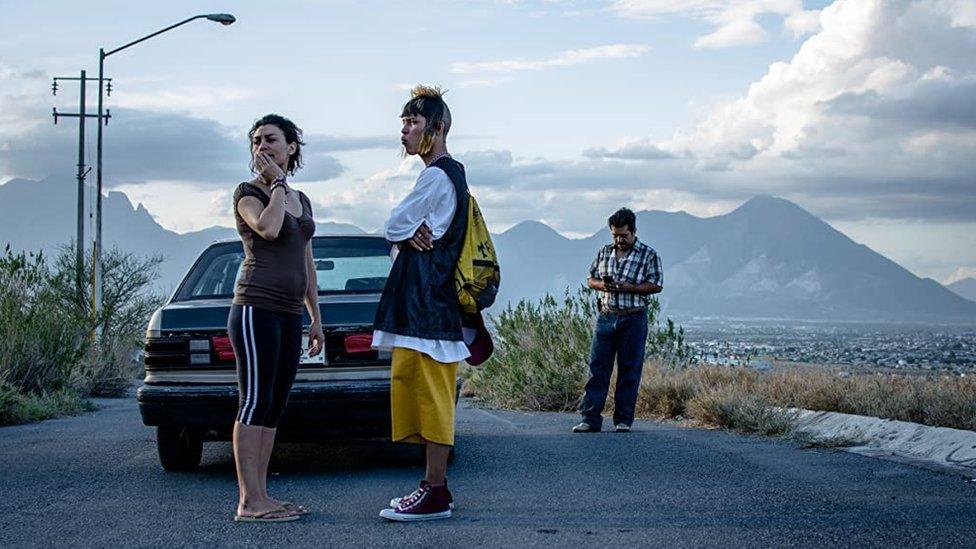 """Daniel García y Yesica Silva en """"Ya no estoy aquí"""" (2019)"""