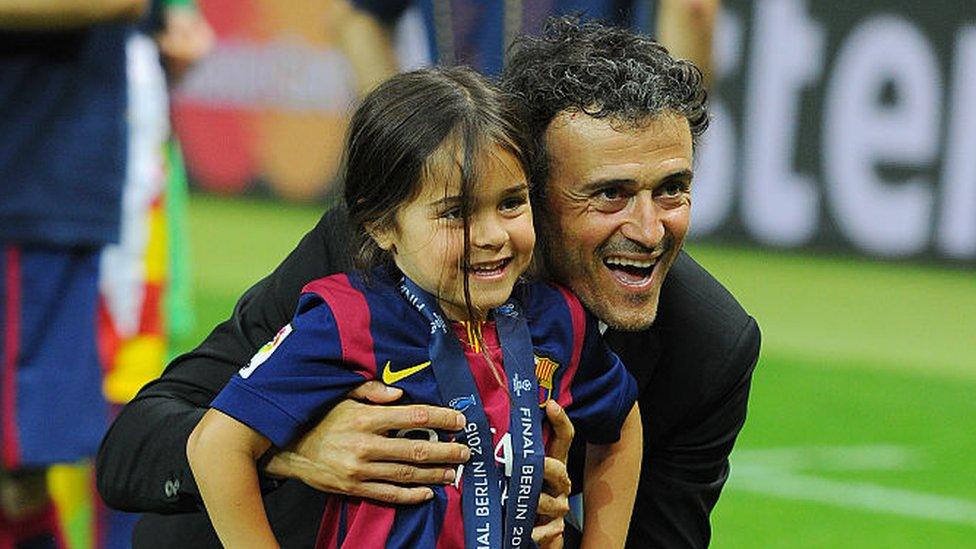 Luis Enrique con su hija