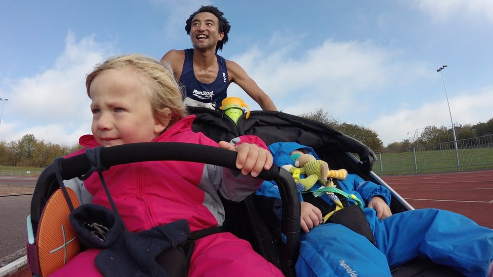 Bristol doctor claims to beat double buggy marathon record