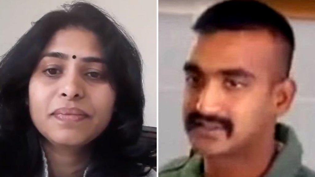 भारतीय पायलट अभिनंदन की 'पत्नी' ने बीजेपी को दी ये हिदायत?