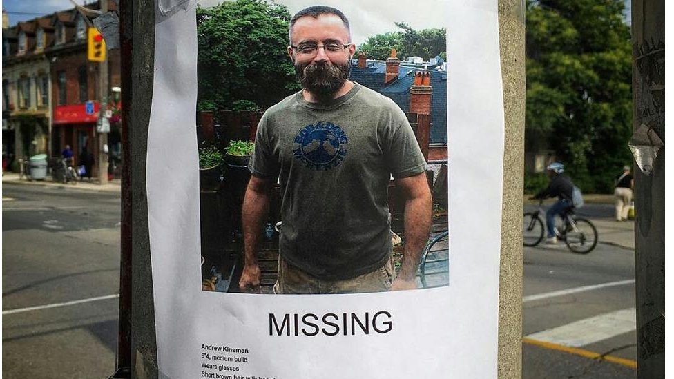 Friends hung posters of Andrew Kinsman around the Village and Cabbagetown