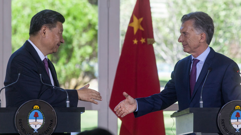 El presidente Macri con su par chino, Xi Jinping, durante el encuentro del G20 en Buenos Aires, en 2018.