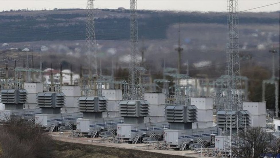 Planta de energía en Ucrania.