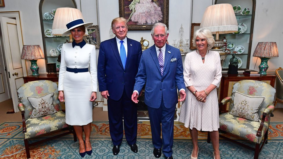 Melania Trump, Donald Trump, Prince Charles and the Duchess of Cornwall at Clarence House