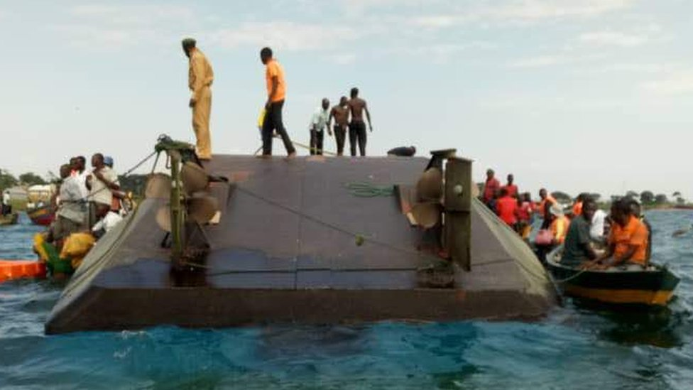Lake Victoria, Tanzania: Dozens drown in ferry capsize