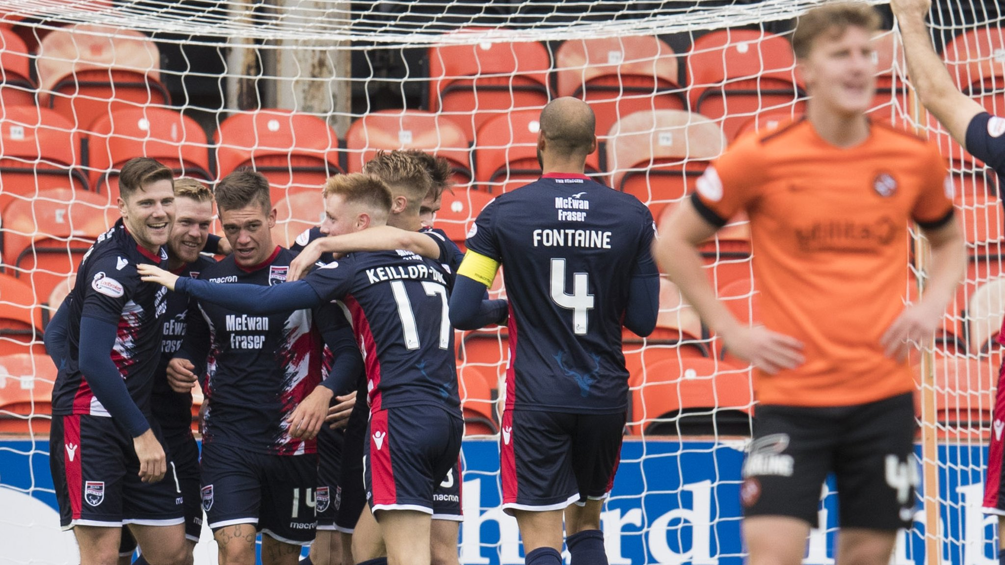 Dundee Utd 1-5 Ross County: Csaba Laszlo's future in fresh doubt