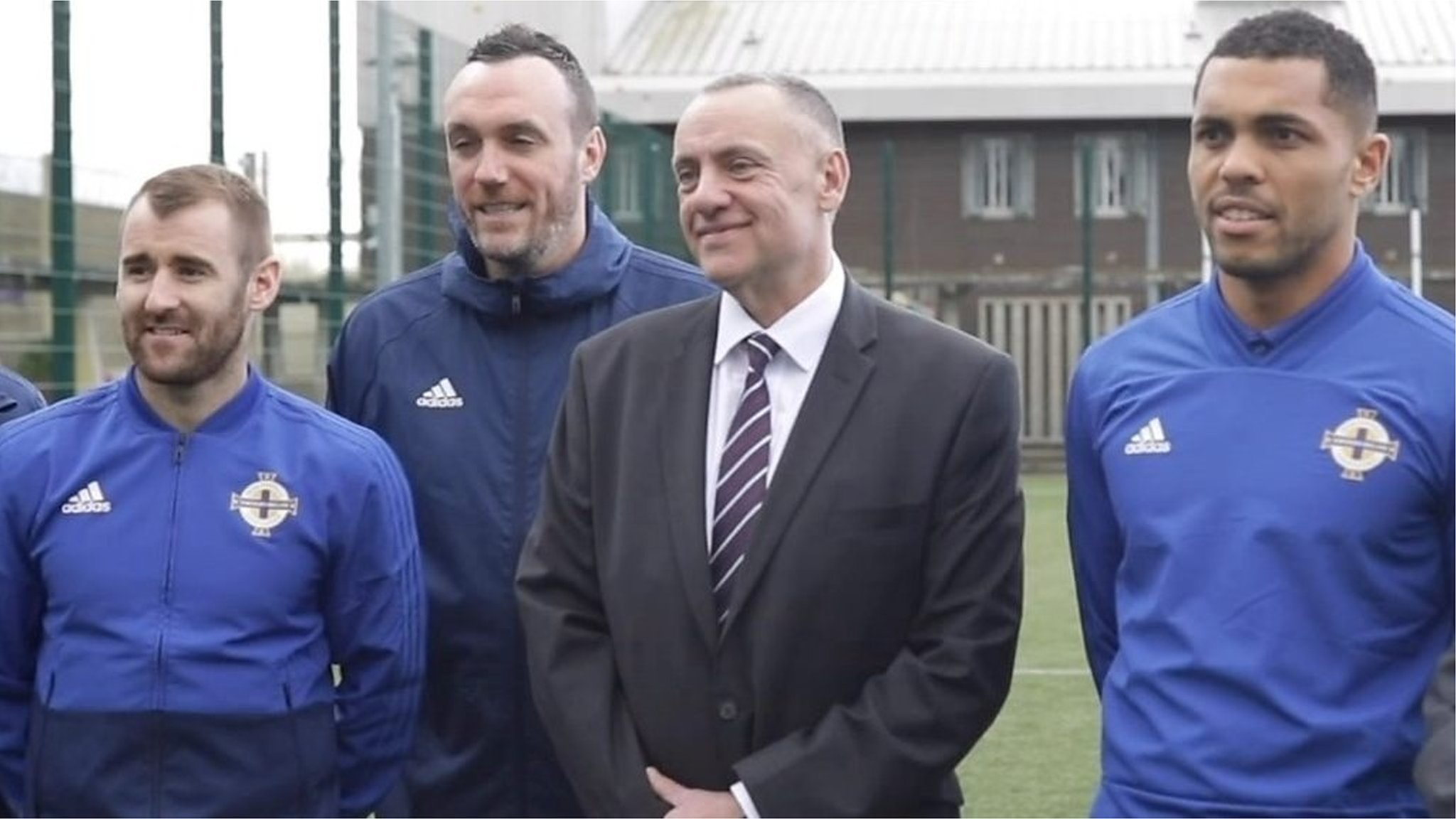 Northern Ireland's Magennis and McGinn back football scheme for prison inmates