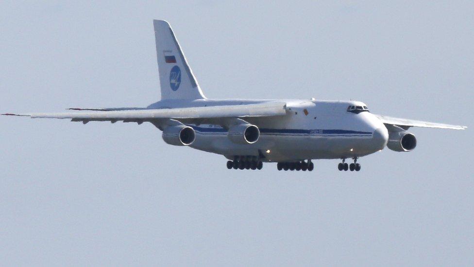 Avión ruso a unto de ateriizar en Nueva York