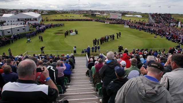 The Irish Open was held at Royal Portrush in 2012
