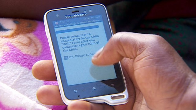 Every child born has their details recorded on-the-spot, with a phone app
