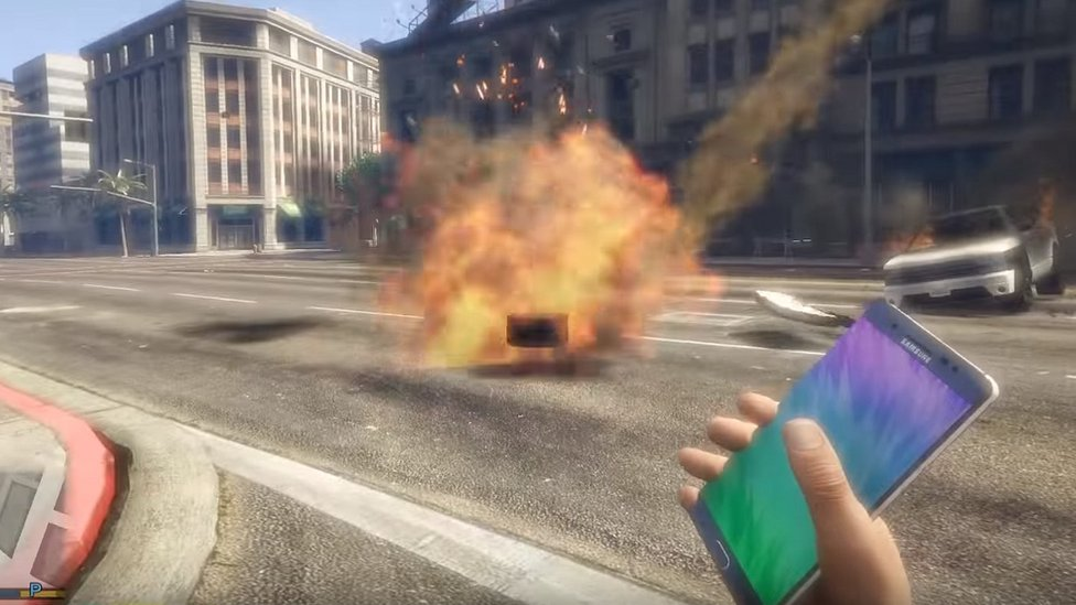 Samsung Galaxy Note 7 in Grand Theft Auto