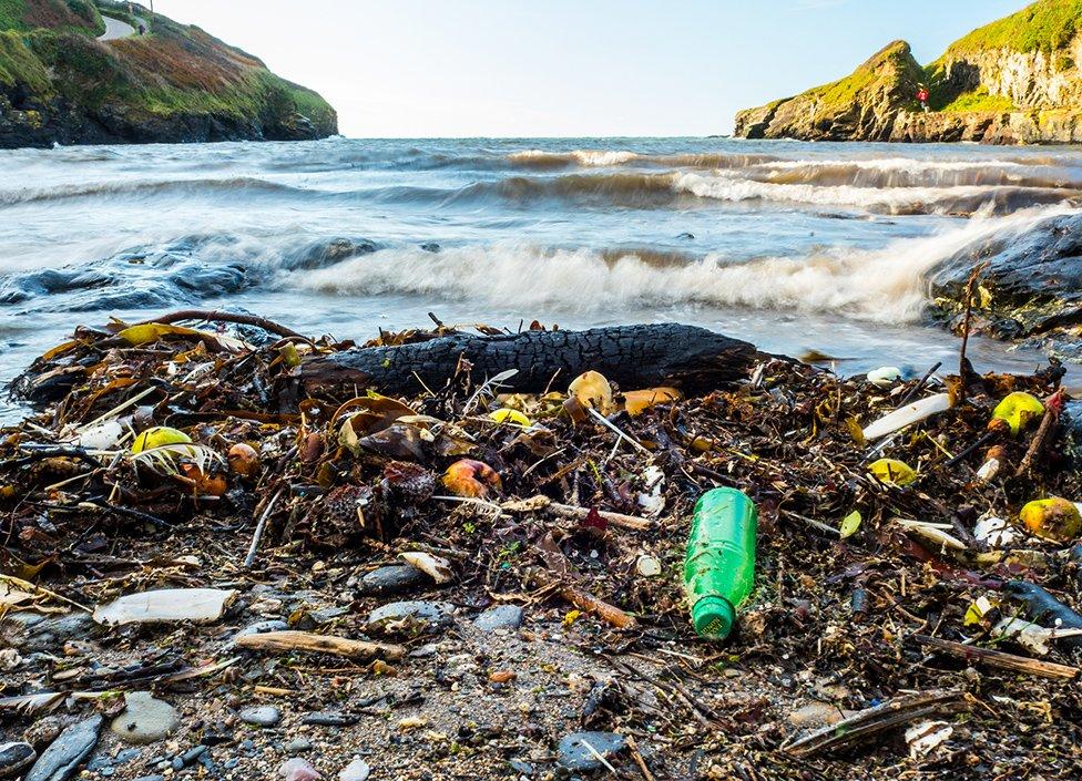pantai, sampah plastik