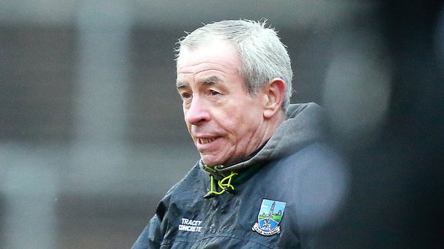 Peter McGrath watches his Fermanagh team beat Meath in the Division Two Football League contest at a wet Brewster Park