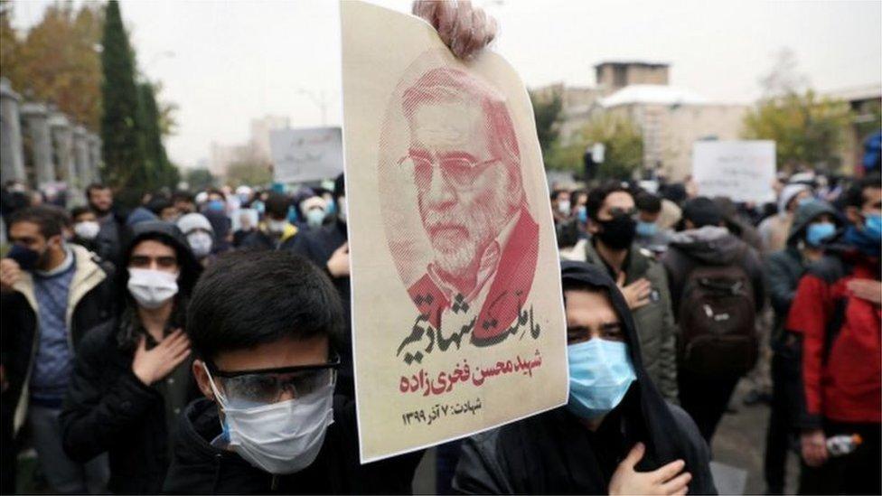 مظاهرات غاضبة في إيران طالبت بالانتقام لمقتل العالم البارز محسن فخري زادة