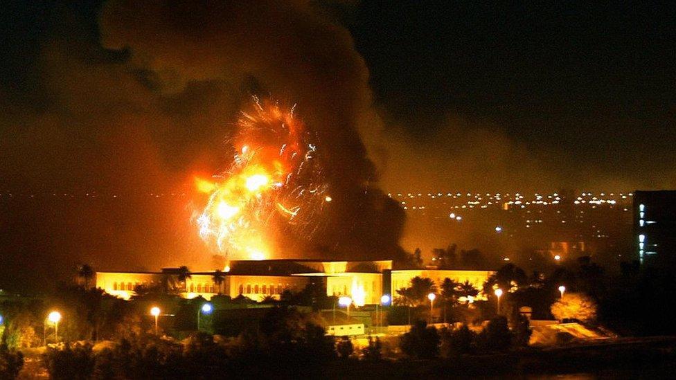 قصف مدينة بغداد
