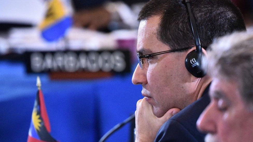 Jorge Arreaza en la OEA
