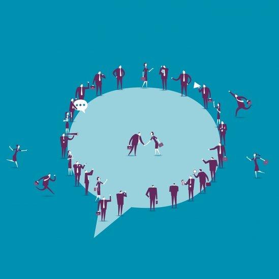 Ilustración de una burbuja social