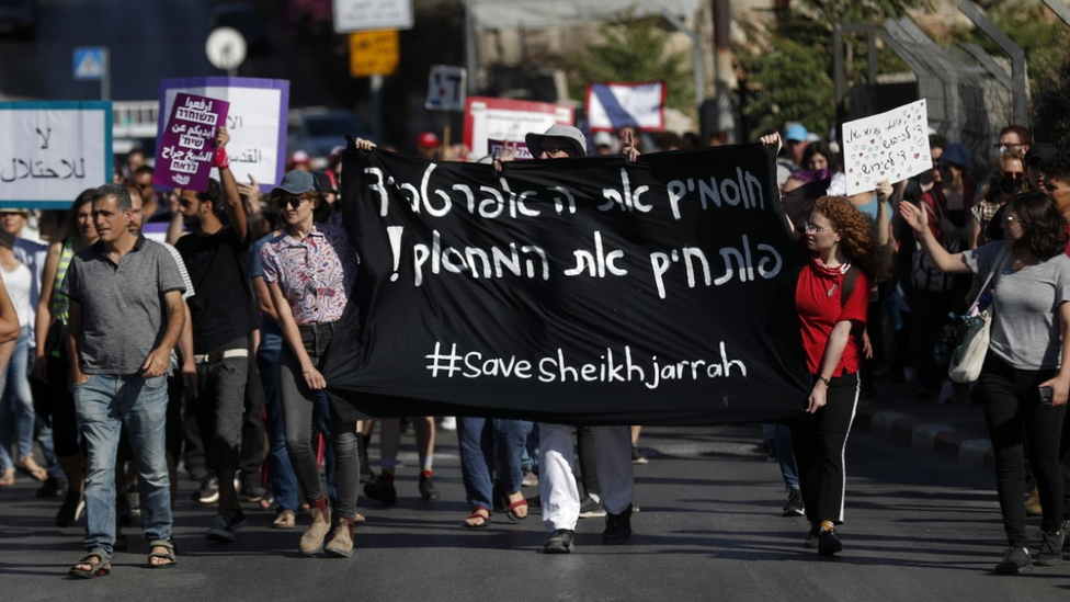 Protest in support of Sheikh Jarrah families facing eviction