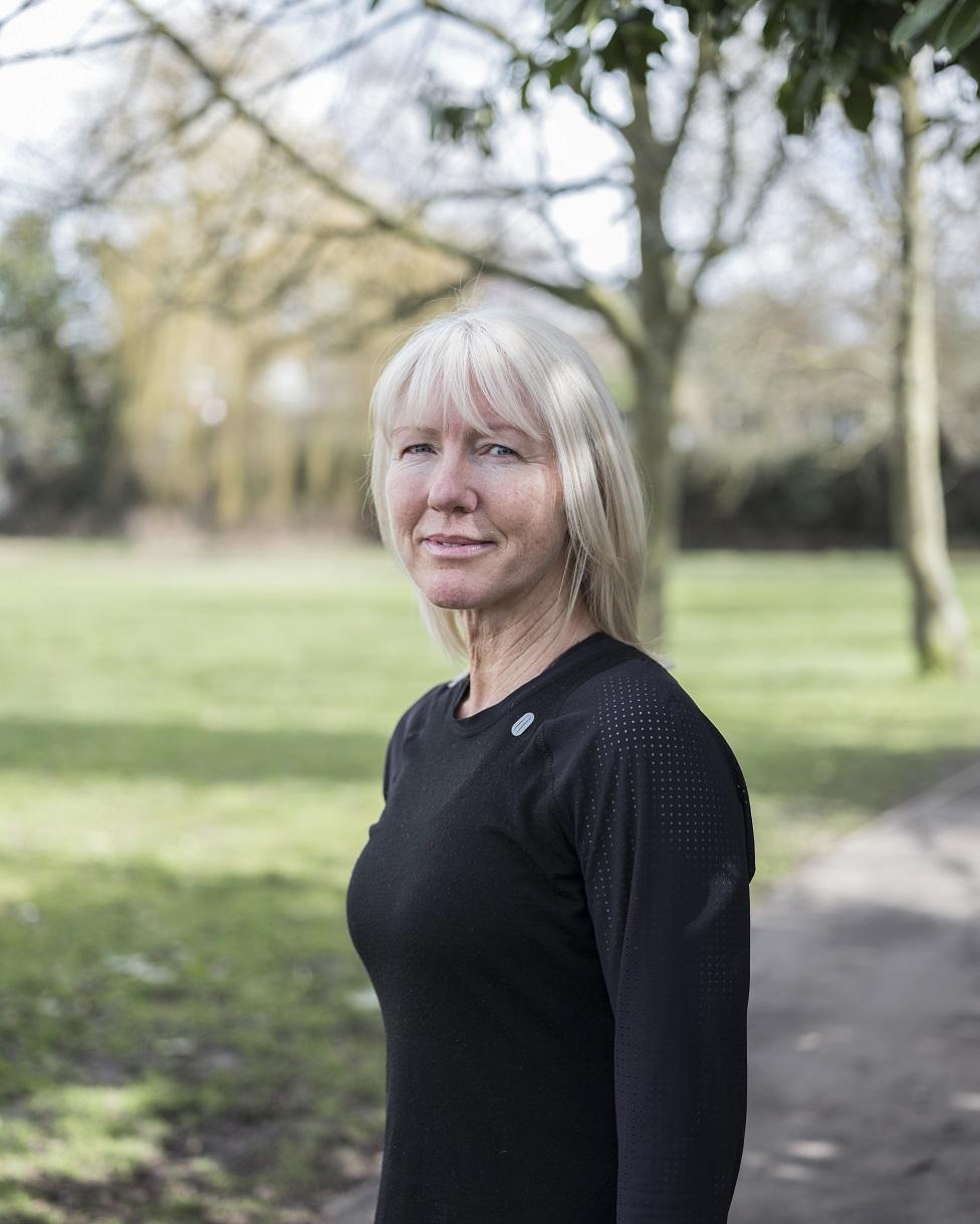 Karen Jones in a park