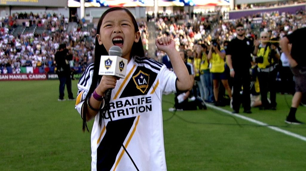 LA Galaxy: Malea Emma stuns MLS crowd with national anthem