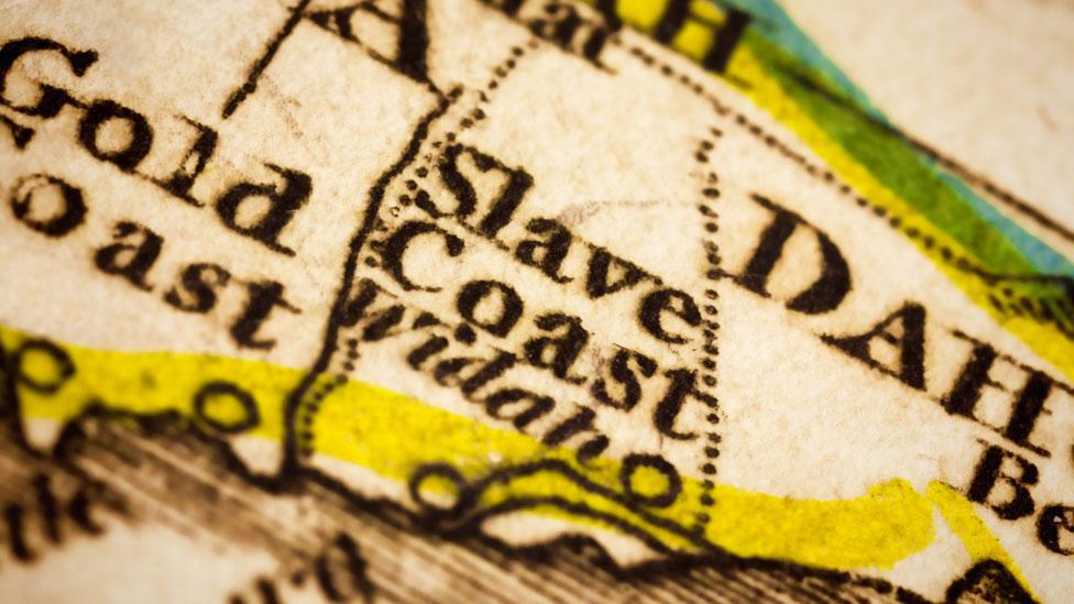 NO USAR, BBC | Mapa de la costa de los esclavos