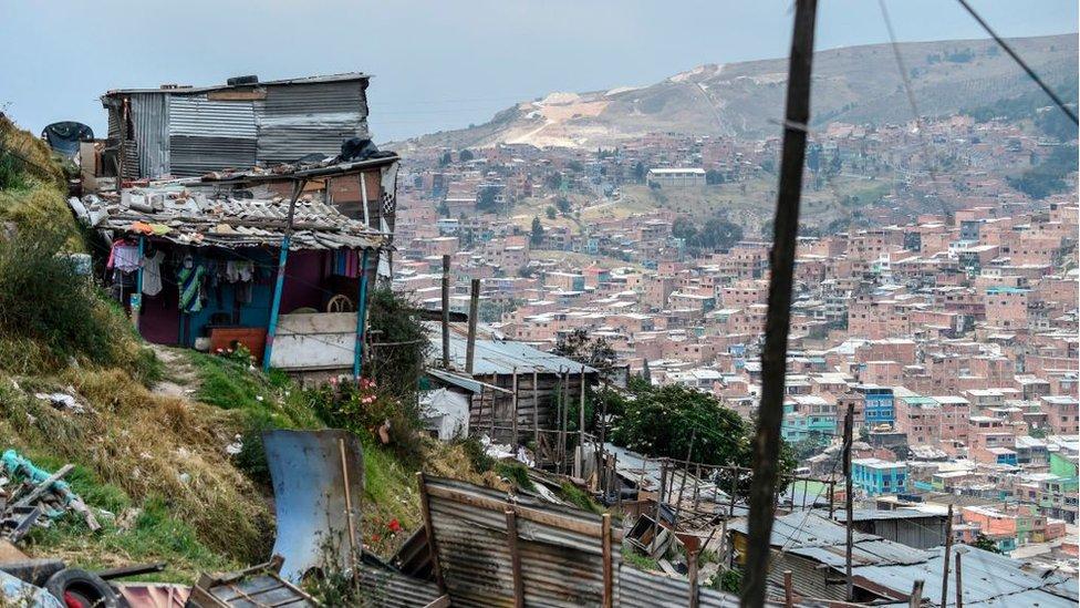 Barrio pobre en Colombia