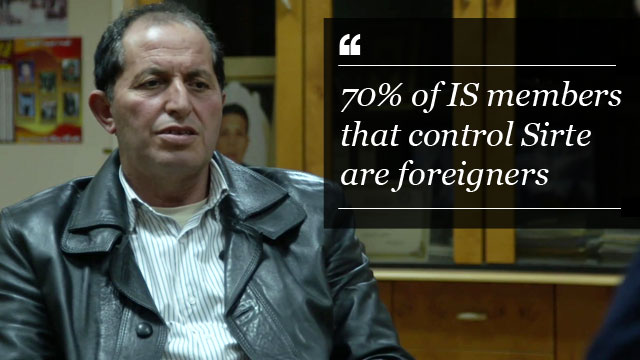 Head of Misrata Intelligence says most of the so-called Islamic State fighters in Libya are from Tunisia, Iraq and Syria