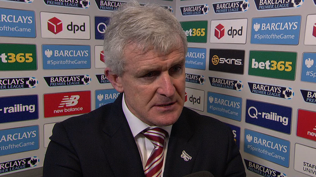 Stoke 3-1 Norwich: Mark Hughes says Potters exceeding expectations