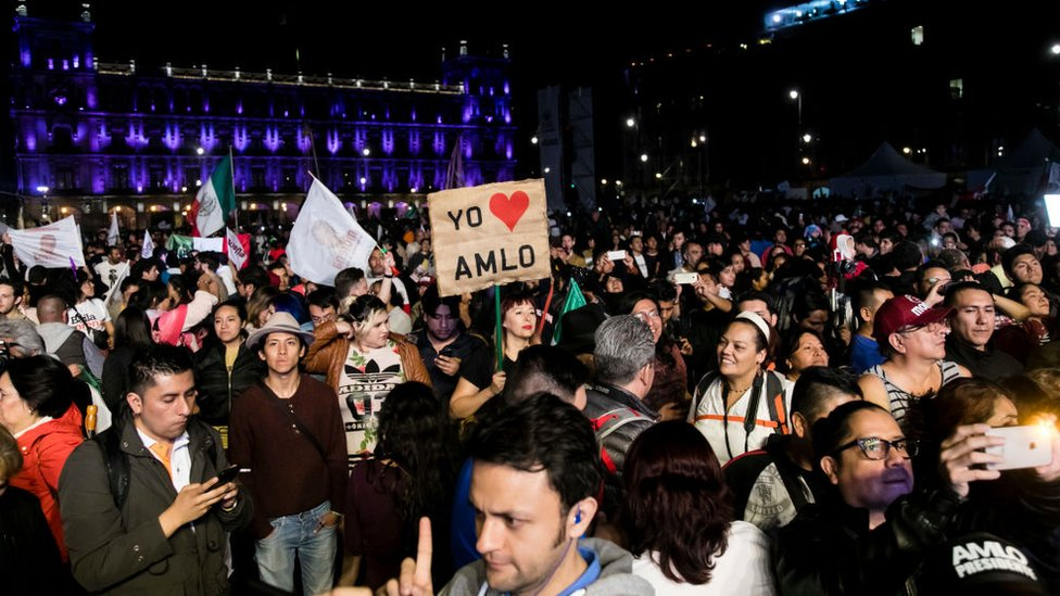 Simpatizantes de López Obrador.