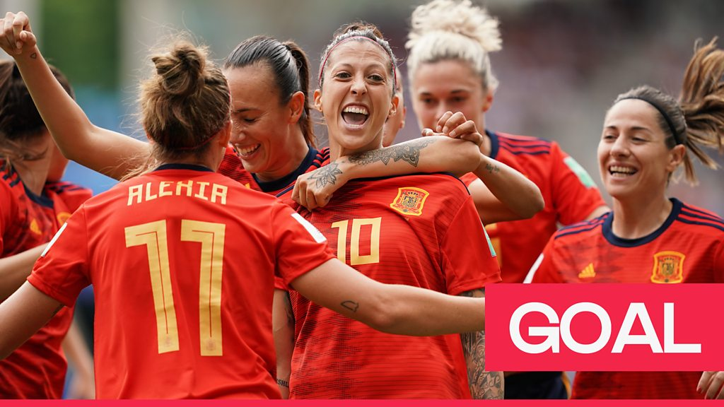 Women's World Cup 2019: Jenni Hermoso scores the equalising goal for Spain against USA