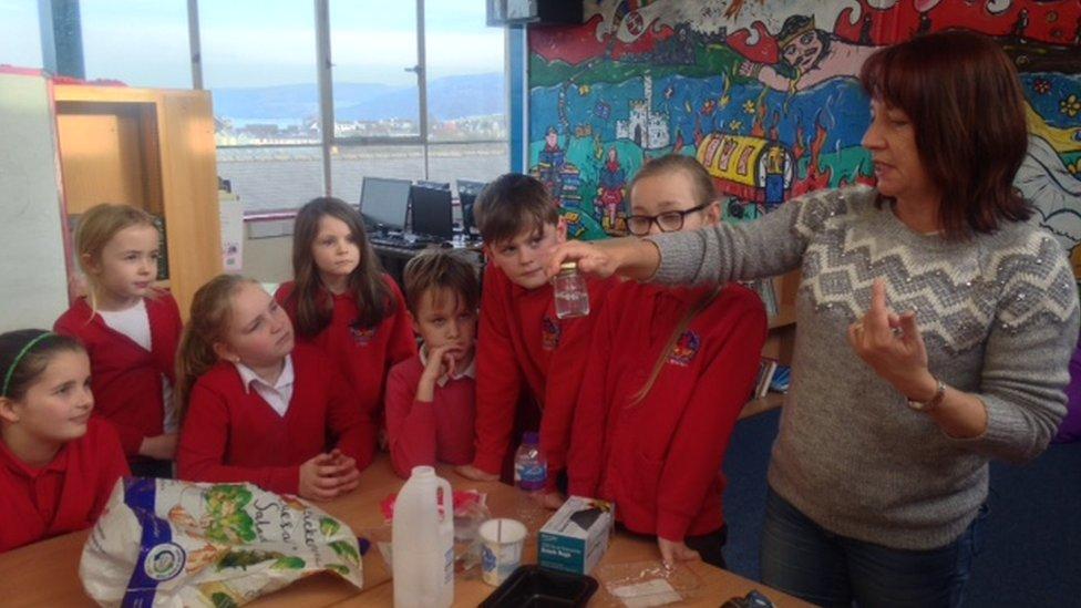 Aberporth school children