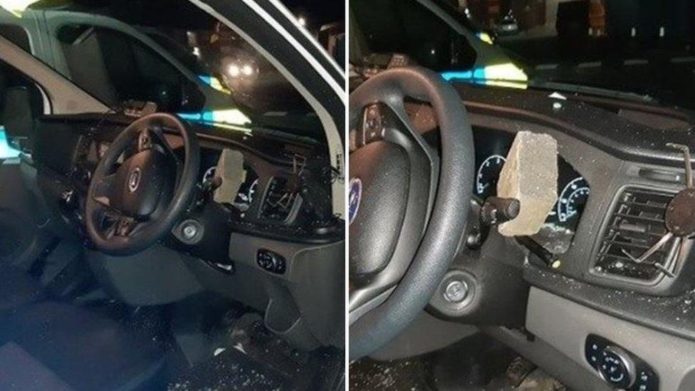 Car damaged in Bonfire night attack