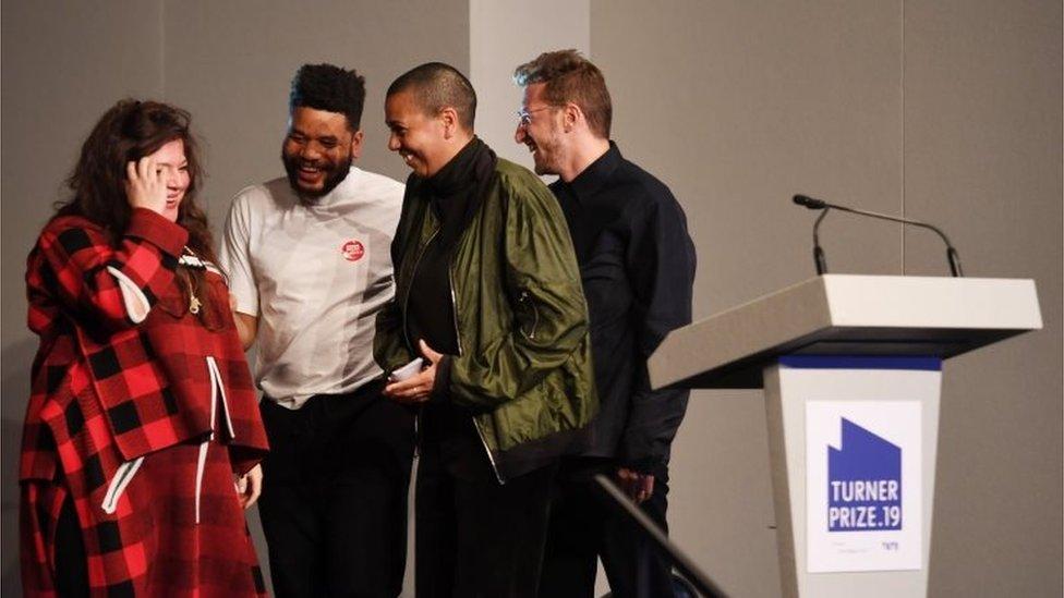 Tai Shani, Oscar Murillo Helen Cammock and Lawrence Abu Hamdan