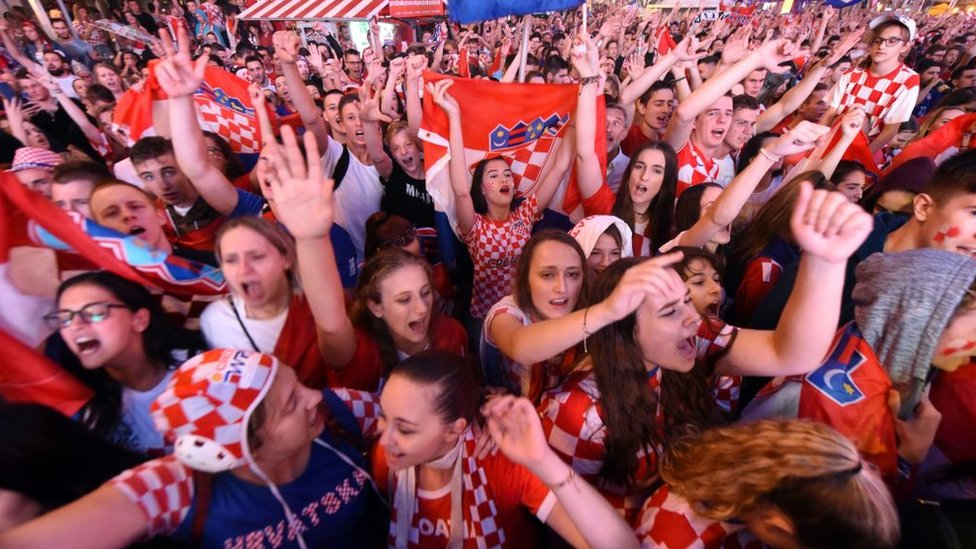 hinchas croatas