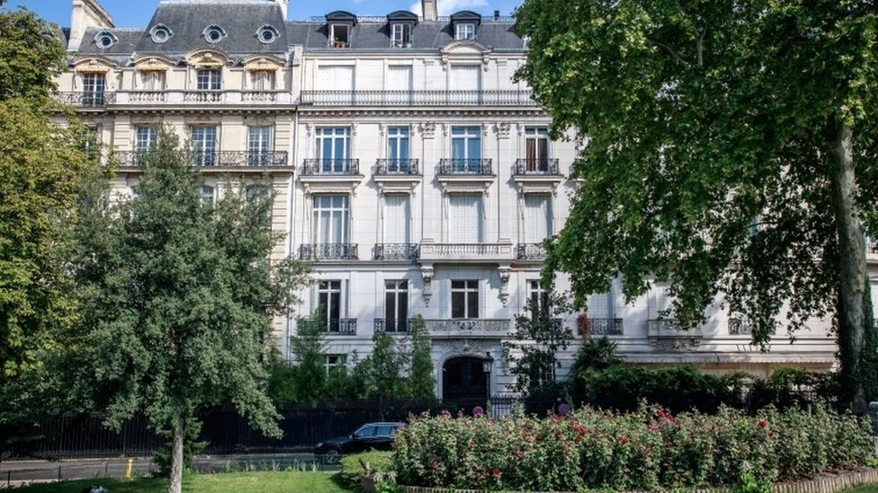 Epstein's luxury apartment in Paris