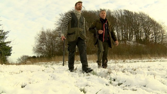 Danish hunters (c) BBC
