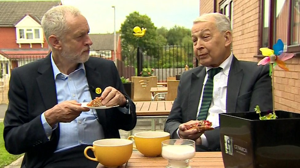 Jeremy Corbyn and Frank Field