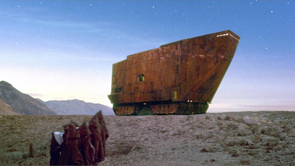 """El Sandcrawler de """"La guerra de las galaxias""""."""