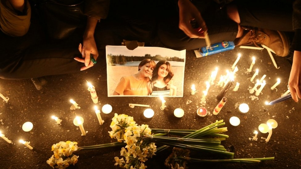 Vigils were held in Tehran on Saturday for the victims of the crash