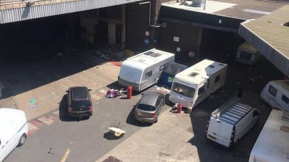 Thwaites Brewery travellers 'demanded £20k to leave site'