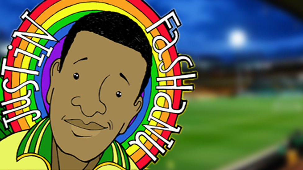 Cartoon tribute to Justin Fashanu