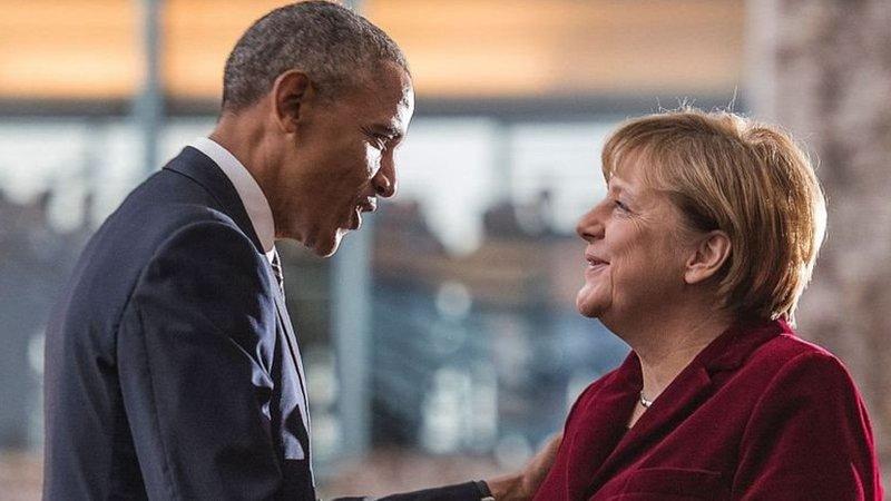 Barack Obama ve Angela Merkel